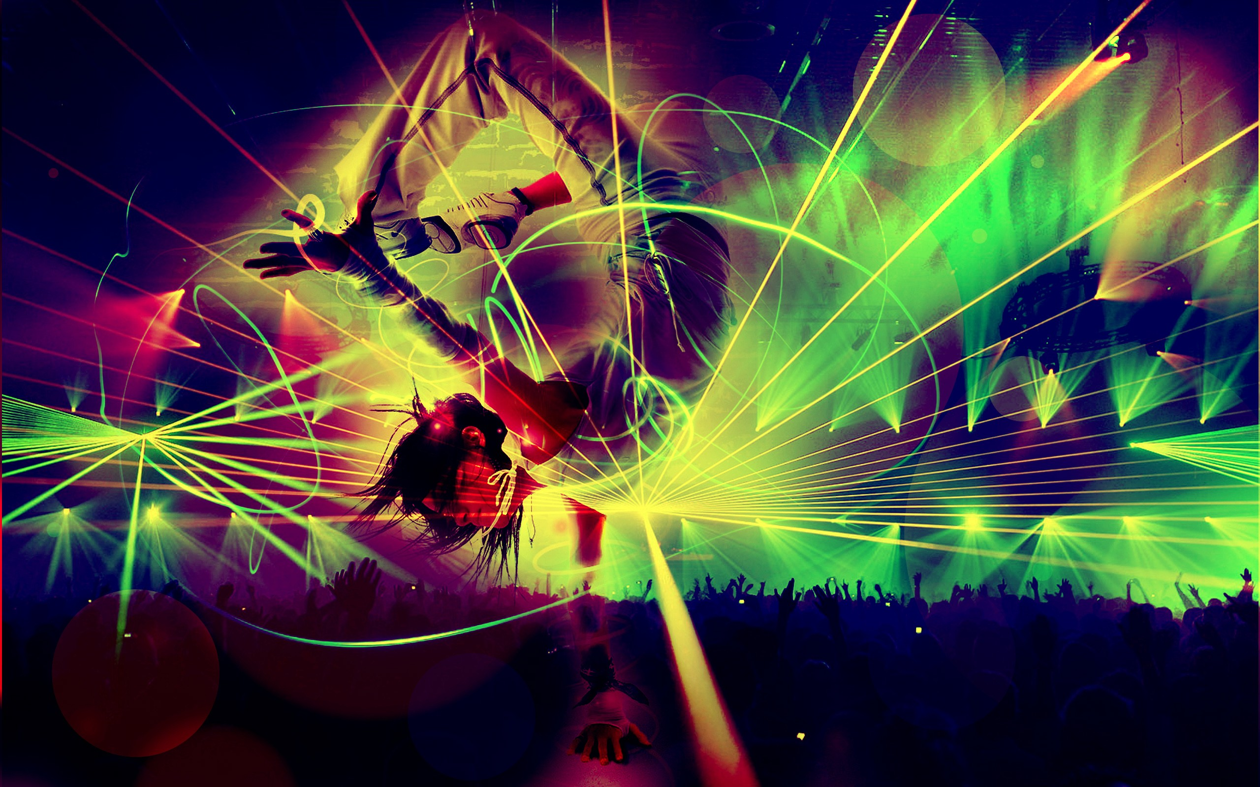 Party Dance Psychedelic Rave 2560x1600 Hd Wallpaper
